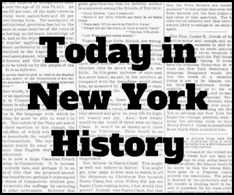 Today in New York History